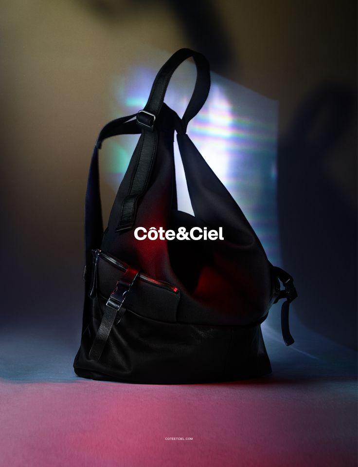 Côte&Ciel Spring Summer 2015 Campaign featuring the Ganges M Alias Leather.  Art Direction by Nicolás Santos. Photography by Benjamin Lennox.  www.coteetciel.com