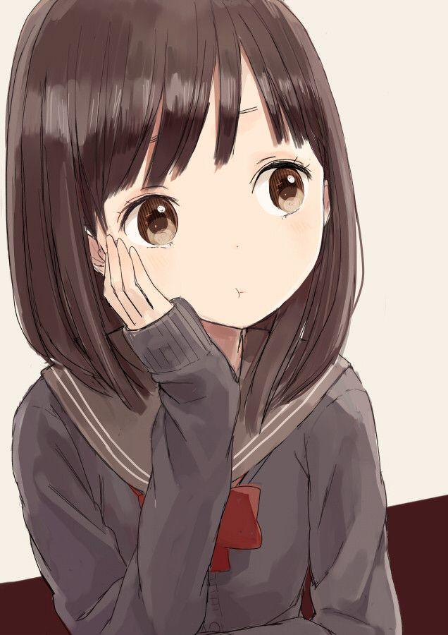 Картинки аниме задумчивые девушки