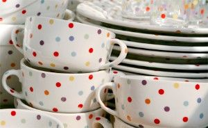 1000 images about dinnerware on pinterest pip studio for Gold polka dot china