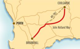 3 Days - The Holland Track and John Holland Way.  Tackle the John Holland Way and Holland Track and embark on a real Australian outback adventure created by pioneer John Holland. Carved into the rugged bushland, this track connects Broomehill and the Goldfields.