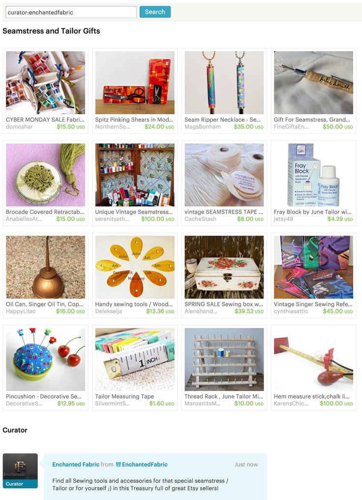 #Seamstress and #Tailor #Gifts - #Etsy #Treasury by #EnchantedFabric