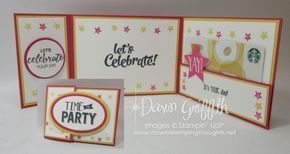 Tri-Fold gift card , Birthday card , Confetti Celebration stamp set with Bunch of Blossoms stamp set more details plus the video on how to make this tri fold is posted on my blog www.DawnsStampingThoughts.net Dawn Griffith