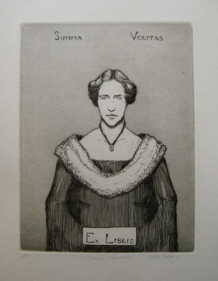 Summa Veritas, aquatint and etching, 15cm x 20cm by Matthew James Collins