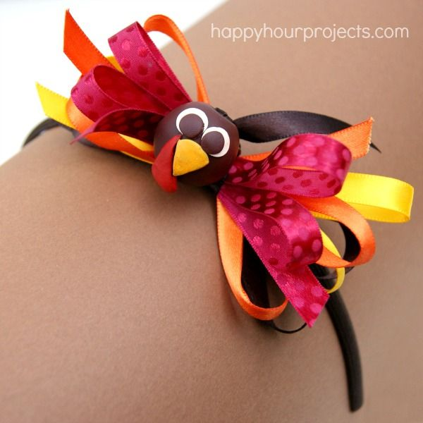 Thanksgiving Turkey Bow Headband with the #Bowdabra  at @Ashley Walters Walters Walters Yoon Hour Projects