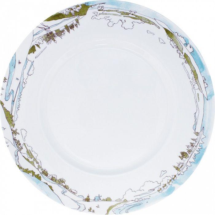 Mateo-Shop - Былины, тарелка столовая (зеленая палитра)
