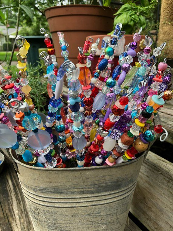 Set Of Three Fairy Garden Totems Peacock Mermaid Blue And Other