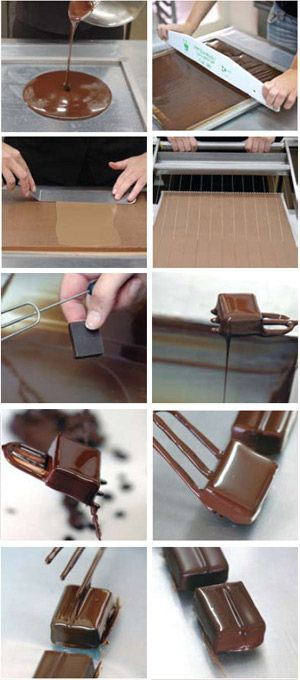 Enrobing Chocolate: professional tutorial by Ika Chocolate, Tel Aviv. Recipe section available (passion fruit, honey caramel, etc).
