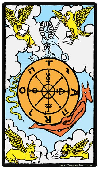 53 Best Images About Tarot: Wheel Of Fortune On Pinterest
