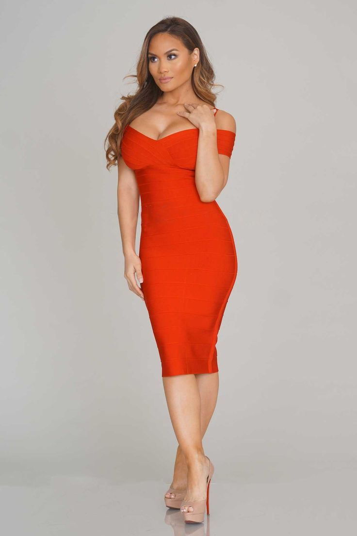 Lana Bandage Dress - Red