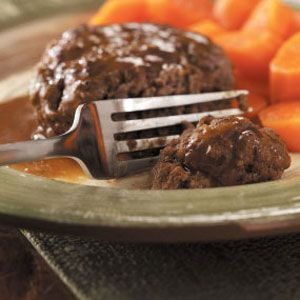 Salisbury Steak for Two:  1 patty is 205 calories; 1/2 carb