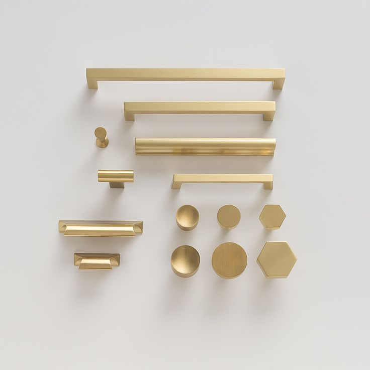 Greenwood Pull - Natural Brass