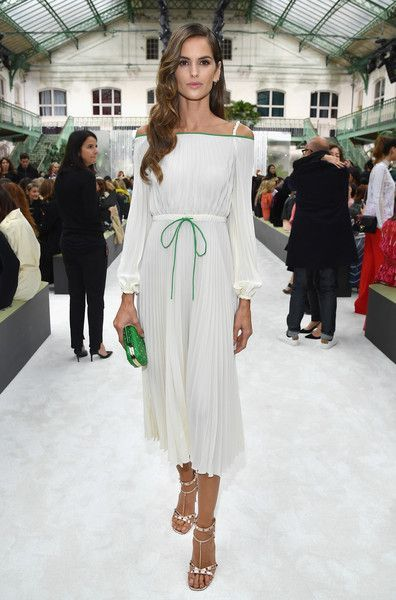 Izabel Goulart attends the Valentino show as part of the Paris Fashion Week Womenswear Spring/Summer 2018 on October 1, 2017 in Paris, France.