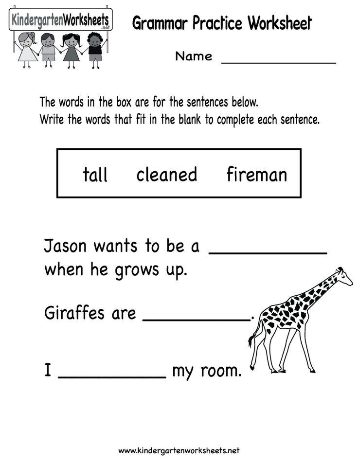 kindergarten grammar practice worksheet printable worksheets legacy english grammar. Black Bedroom Furniture Sets. Home Design Ideas