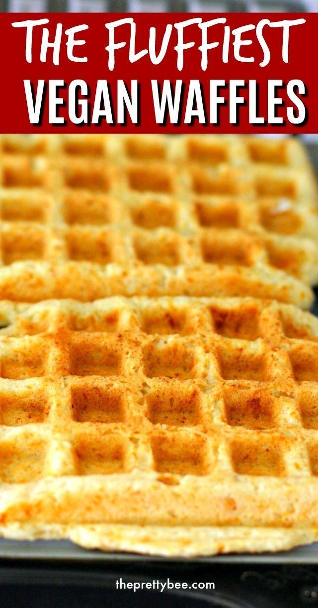 Cinnamon Sugar Egg Free Waffles The Pretty Bee Recipe Vegan Waffles Egg Free Breakfast Dairy Free Recipes