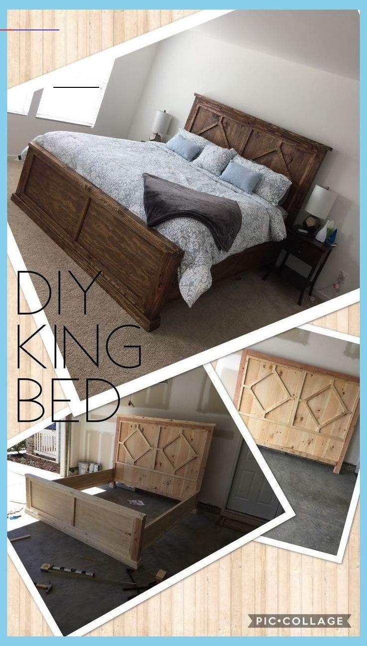 Diy Rustic Modern King Bed Rustic Bed Plans Diy Bed Frames With Storage Diy Bed Frame F Be In 2020 Bed Frame With Storage Diy Loft Bed Bed Frame And Headboard