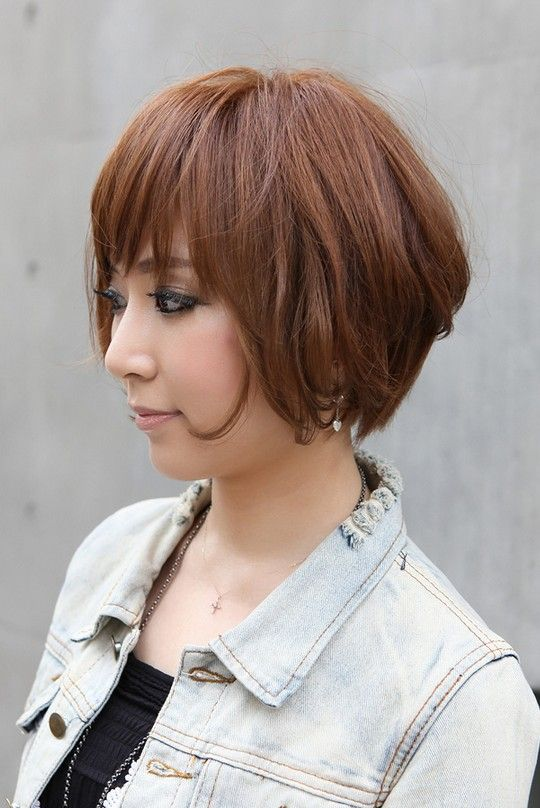 Trendy Short Copper Haircut from Japan – Stacked Short Angled Bob | Hairstyles Weekly