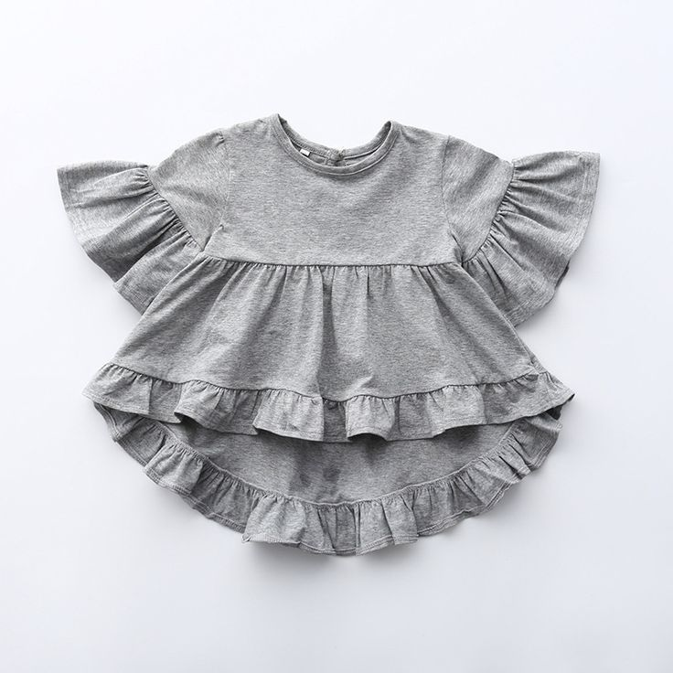 A boho frill top made from a luxe cotton. We have it for mommy & dolly! See the Mommy & Me section for the Mommy sizes.