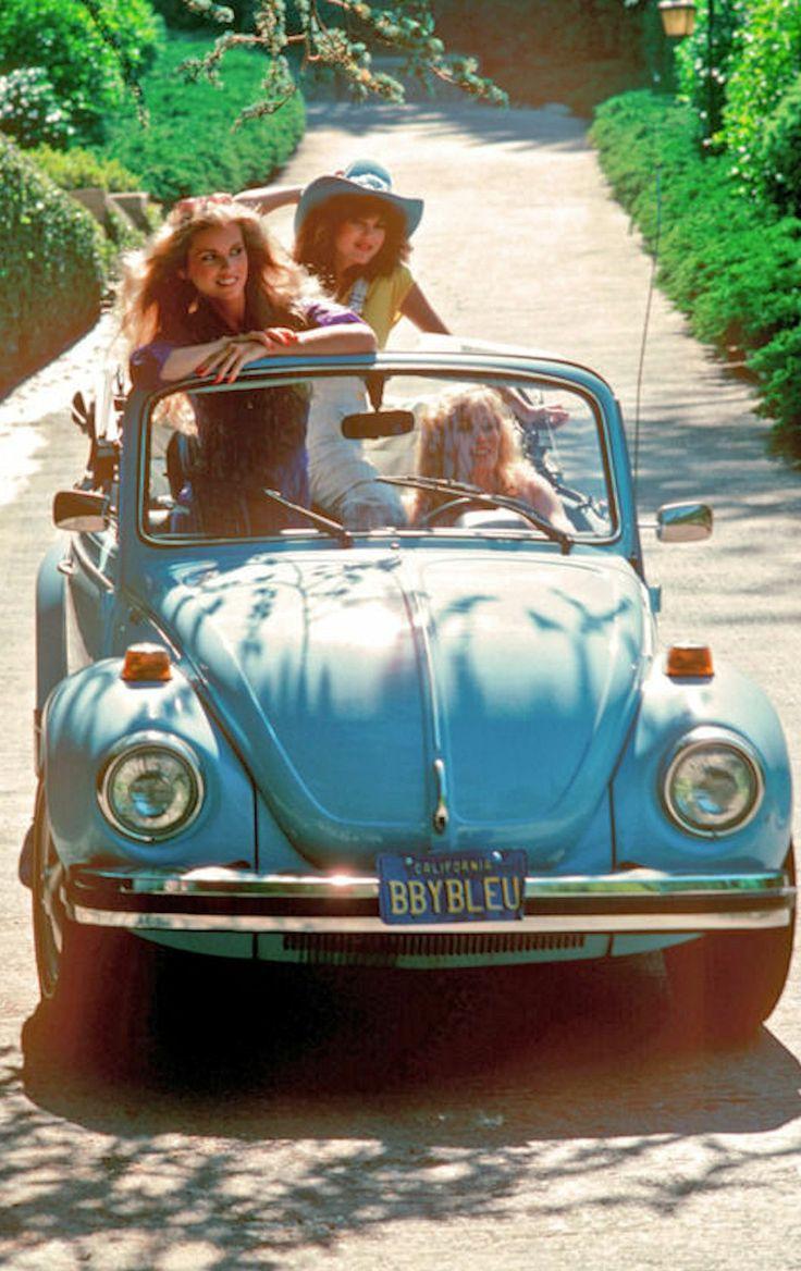 1960's California Girls in VW Bug Convertible