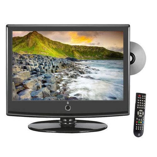 15.6'' Hi-Definition LCD Flat Panel TV w/ Built-In DVD Player