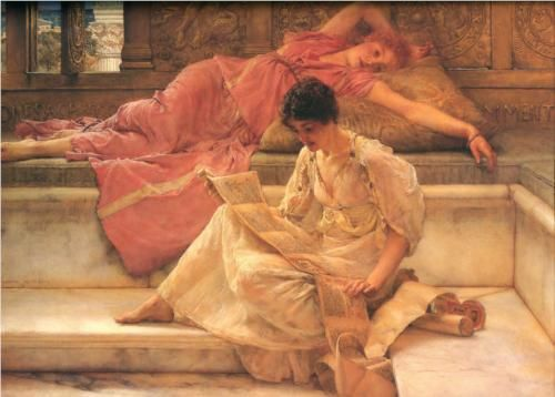 The Favourite Poet - Sir Lawrence Alma-Tadema