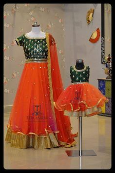 Here is a lovely mom n daughter Duo !!!! Mom n Daughter -16 Available For orders/queries whatu2019s app us on 8341382382 or Call us @8790382382 Mail us tejasarees@yahoo.com www.tejasarees.com LikeNeverBefore Tejasarees Newdesigns icreate kidswear momdaughter 01 August 2016