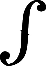 Not sure if an f-violin hole or an integral symbol...