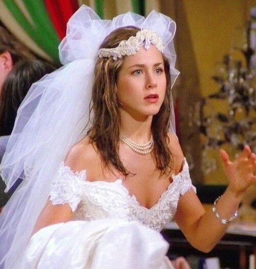 The very first episode addicted to friends for Friends wedding dress