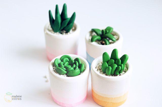 DIY : Pots à plantes grasses effet tie and dye