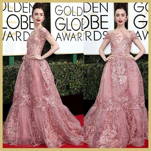 Lily Collins, Golden Globe Awards 2017, MyFashgram