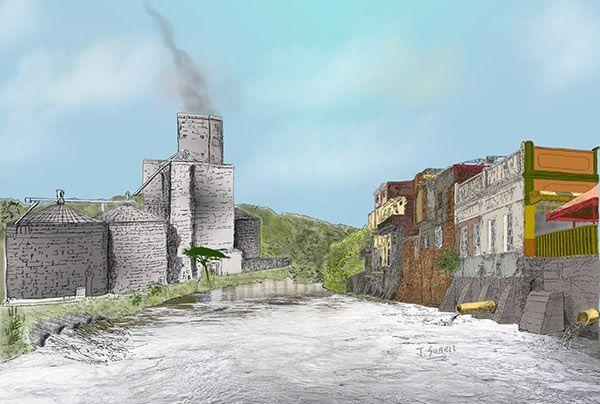 Ilustración Digital - Contaminación río magdalena on Behance