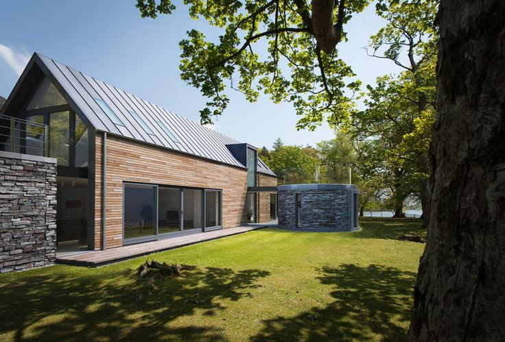Barn style modern house. Timber clad. From Pod Space