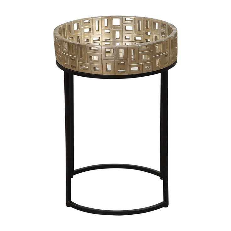 Best Uttermost Aven 99 Gold Accent Table Round Accent Table 400 x 300
