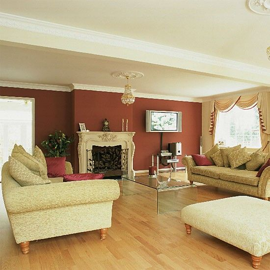 Classic living room PEACH AND GOLD
