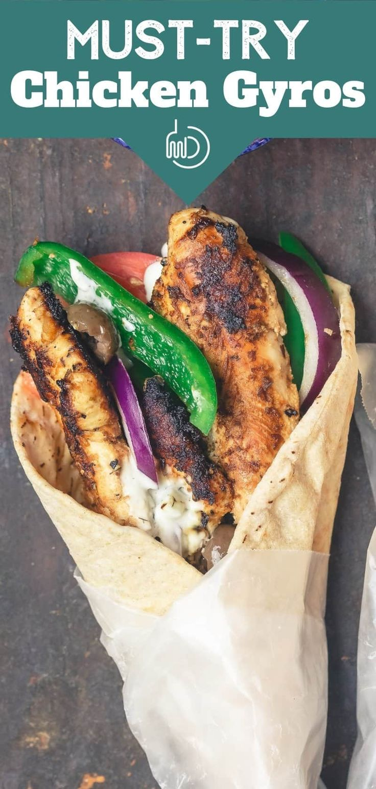 Lieben Sie die Gyros Ihres griechischen Restaurants? Einfaches, geschmacksintensives Hähnchen-Gyro-Rezept mit …   – food