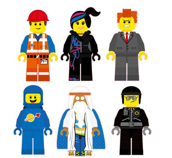 Ausmalbilder Lego Movie 2: The Lego Movie Characters Removable Wall Stickers 6 Piece