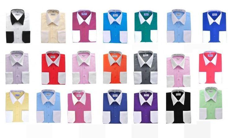 Two tone Dress shirts by Berlioni Italian shirts, high quality, many colors  #Berlioni