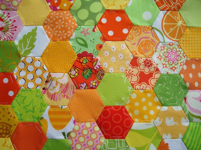 orange yellow green hexies: Quilts Inspiration, Beautiful Quilts, Stunning Quilts, Citrus Cities, Orange Yellow Green, Green Hexi, Photo, Quilts Dreams, Cuti Quilts
