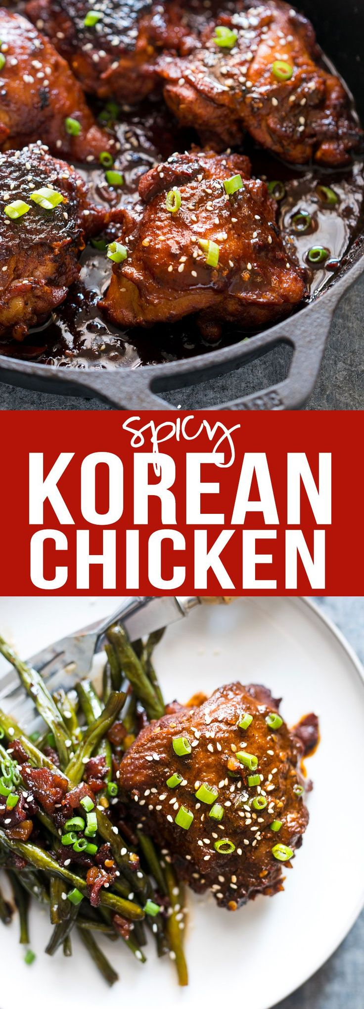 Spicy Korean Chicken Thighs in Gochujang Sauce | Sweet Spicy Marinade | Easy Cast Iron Recipe | Crispy Juicy Chicken | Serve with noodles or fried rice | Fast Recipe | Lunch and Dinner | BBQ