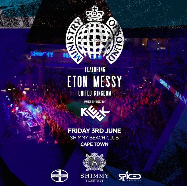 Just over a week to go until @ministryofsound heads to Shimmy Beach  Club in Cape Town on Friday 3 June.  Book Tickets: http://bit.ly/1TOrR1r