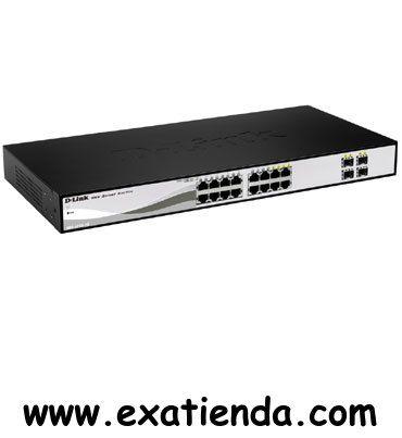 Ya disponible Switch Dlink dgs 1210   (por sólo 188.89 € IVA incluído):   -Interfaz • 12 Gigabit Ethernet 10/100/1000 Mbps puertos • 4 uplinks Gigabit Combo 10/100/1000Base-T/SFP  -Interpretación / resiliencia • Capacidad de conmutación: 32 Gbps  -Seguridad • ACL basado en direcciones MAC, direcciones IP (ICMP / IGMP / TCP / UDP), ID de VLAN, prioridad 802.1p o DSCP • 802.1X admite la autenticación RADIUS • Servidor DHCP de detección 1 • ARP Spoofing Prevenció