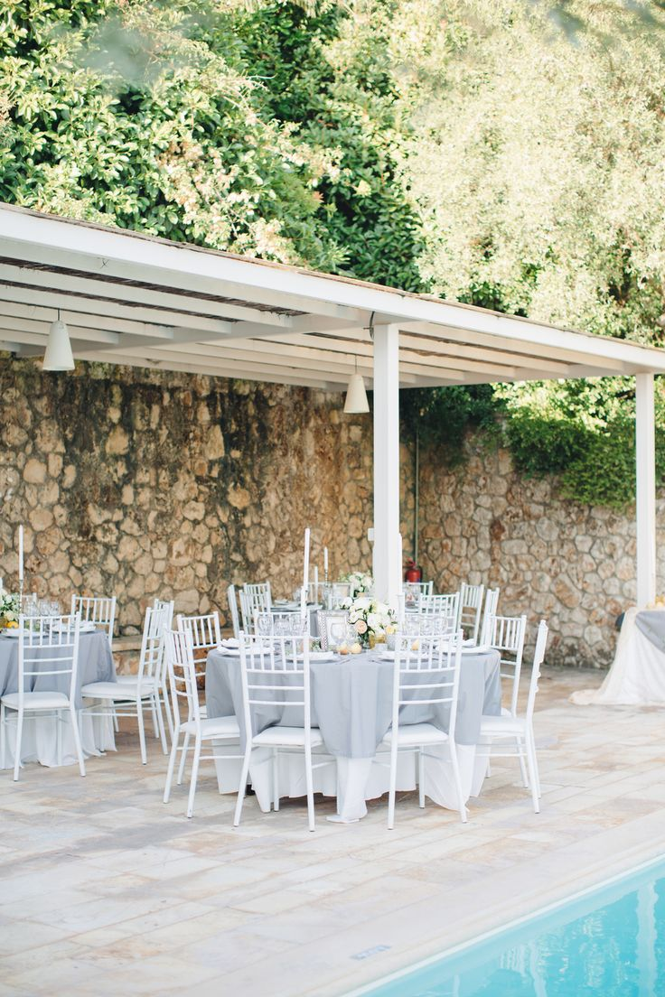 Corfu villa wedding #corfu #wedding #elopement #symbolic #ceremony #greece #island #destination #yellow #bridal #bouquet #greece #destination #sea #villa #bride #groom #table #decor