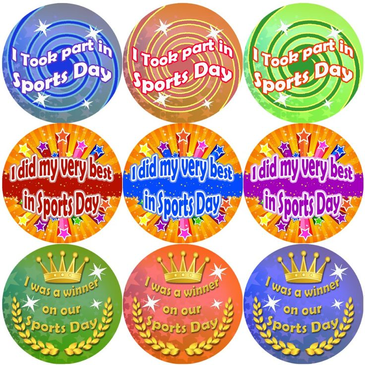These Sports Day themed reward stickers are perfect to make a big impression and to encourage your pupils to take part in sports day. 144 stickers per pack, 30 mm in size.