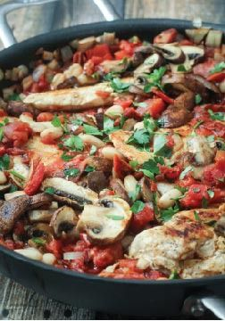 Tuscan Chicken Skillet  -- This easy dinner recipe makes clean up a breeze! A one-pot wonder your family will love.