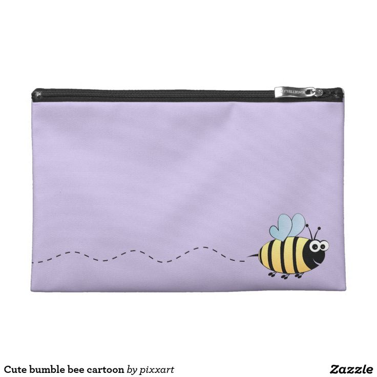 Cute bumble bee cartoon travel accessory bags