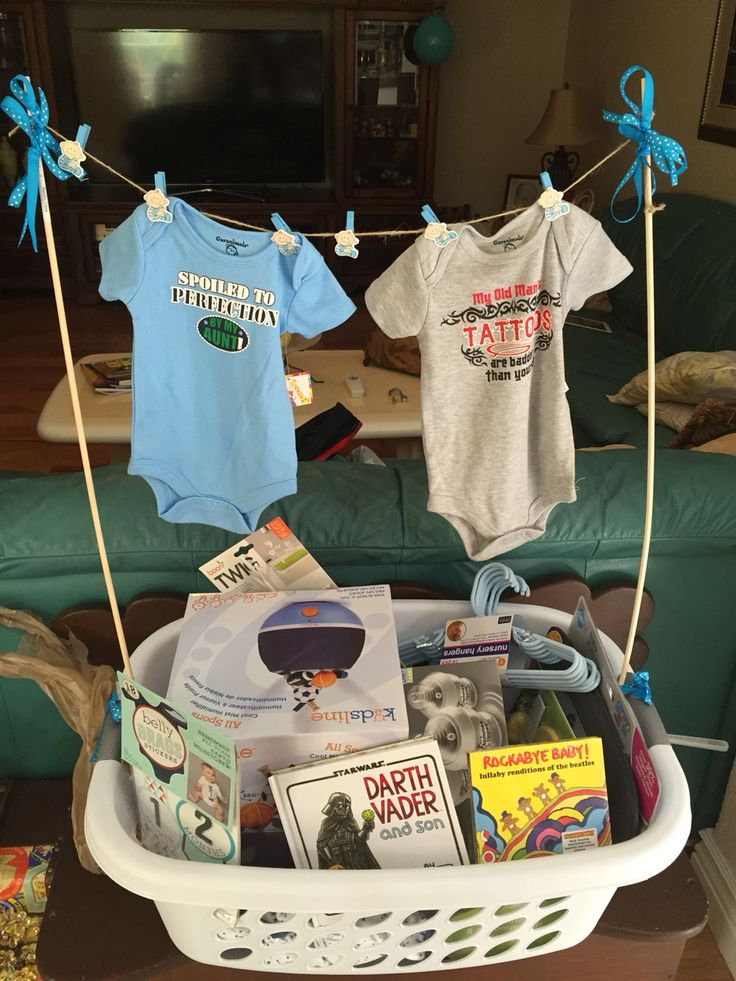 Baby Gift Basket For Dad : Baby shower gift forget wrapping just fill a laundry