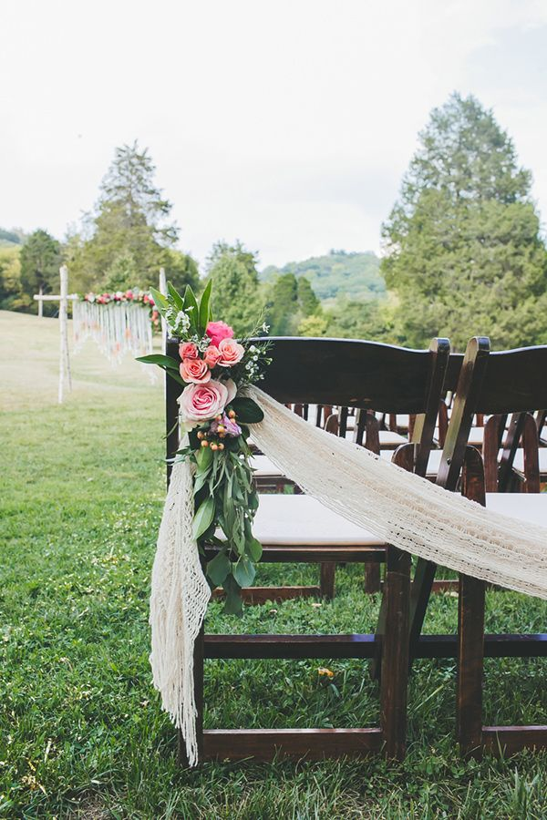 bohemian ceremony decor - photo by Teale Photography http://ruffledblog.com/colorful-boho-wedding-at-historic-cedarwood