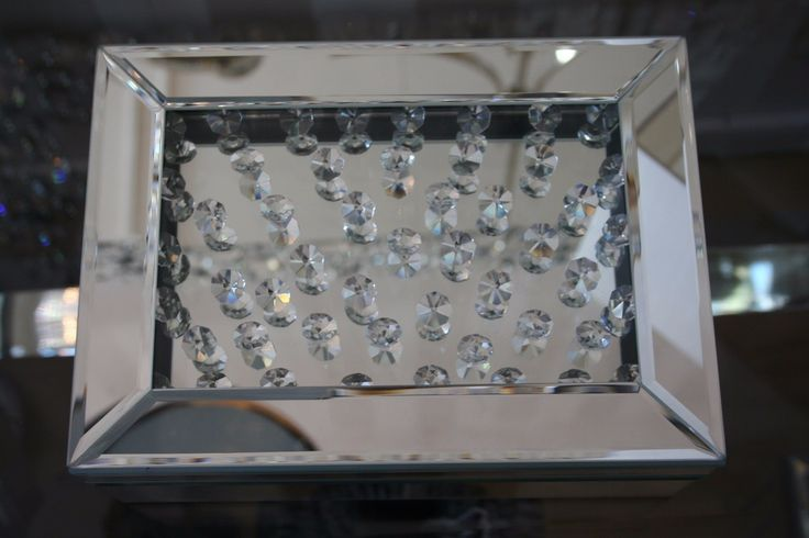 Home Accessories - Floating Crystal Mirrored Jewellery Box http://wu.to/FdO1i2 #home #Essex