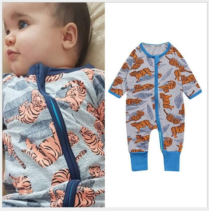 US Toddler Infant Baby Boy Autumn Clothes Fish Romper Cartoon Jumpsuit Outfits