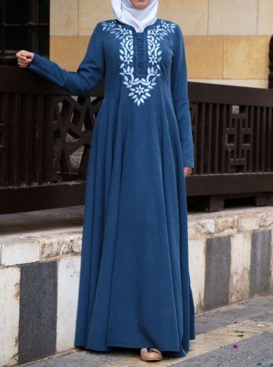 Murjan Embroidered Abaya Gown