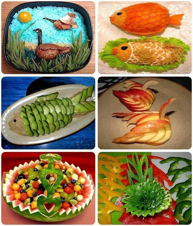 Best fruit carving images on pinterest creative food